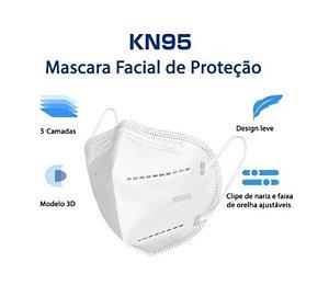 KN95 Máscara Descartável - Proteção, Conforto e Fácil Respiração - 5 Camadas - Pacote com 10 unidades