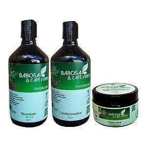 Kit Vegano Baume Babosa e Café Verde (3 Produtos)