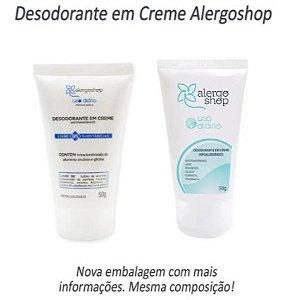 Desodorante em Creme Hipoalergênico - Uso diário - Alergoshop - 50g