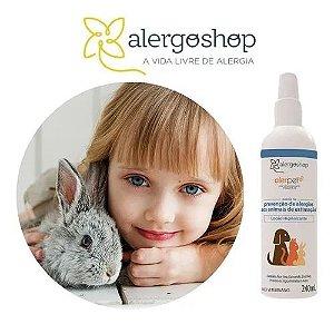 Alerpet Loção Higienizante Prevenção de Alergia aos Animais 240ml Alergoshop