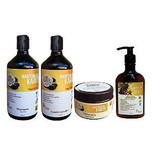 Kit Vegano Manteiga de Karité Baume (4 Produtos)