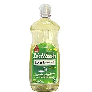 Detergente Lava Louças Hipoalergênico BioWash 650ml 100% Natural