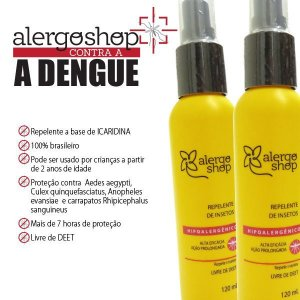 Repelente de Insetos Alergoshop Hipoalergênico Spray 120ml