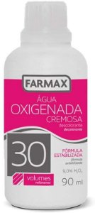 Agua Oxigenada 30 volumes 90ml Farmax