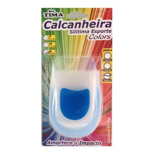 Calcanheira De Silicone Silitima Com Ponto Azul Tamanho M