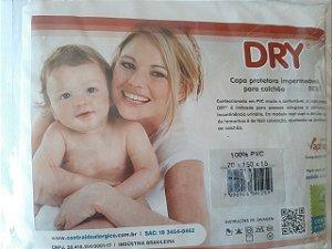 Capa Protetora Impermeável Para Colchão de Bebê berço americano (70x150x15) PVC Central do Alérgico