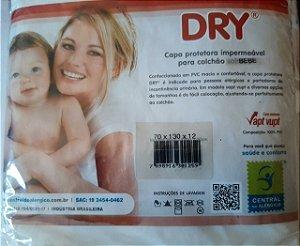 Capa Protetora Impermeável Para Colchão de Bebê berço padrão (70x130x12) PVC Central do Alérgico