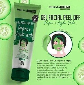 Gel Facial Peel Off Pepino e Argila Verde Dermachem - 60g