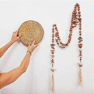 Colar decorativo de cerâmica para mesa ou parede