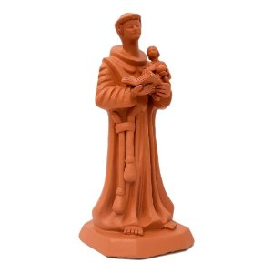 Santo Antônio com menino jesus de cerâmica
