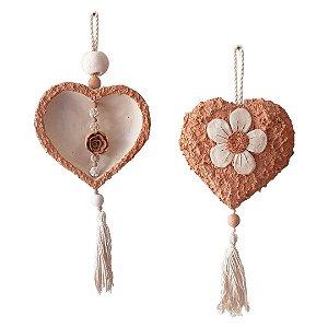 Coração de cerâmica para pendurar