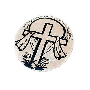 Medalha arte sacra em cerâmica
