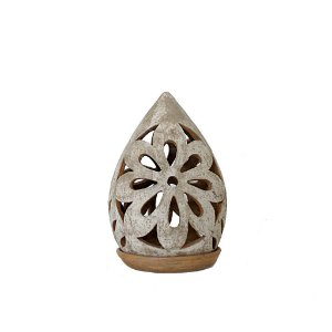 Luminária pinha  em cerâmica