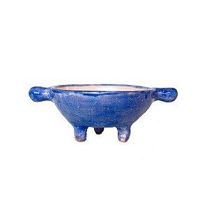 Cumbuca azul com aba