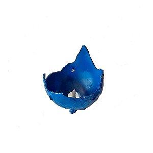 Luminária azul em cimento