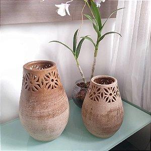 Vaso decorativo grande em cerâmica