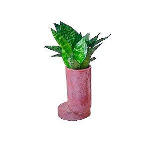 Jarro com base rosa