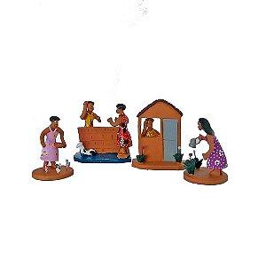 Conjunto de miniaturas em cerâmica
