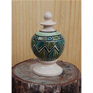 Pinha Verde em cerâmica vitrificada