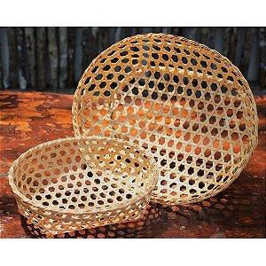 Conjunto com 2 cestas em fibra de cana-brava