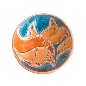Cumbuca pássaros com bico em cerâmica vitrificada