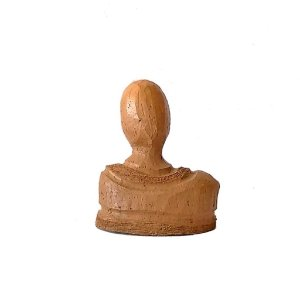 Escultura busto KFI com camisa de gola em cerâmica