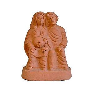 Escultura de Sagrada Família grande em cerâmica