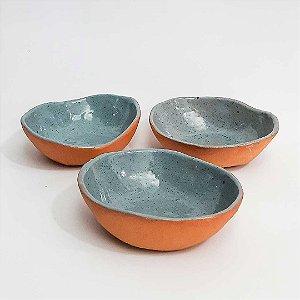 Cumbuca oval em cerâmica vitrificada