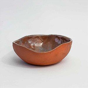 Cumbuca oval grande em cerâmica vitrificada