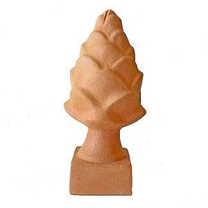 Pinha Alcachofra decorativa em cerâmica natural