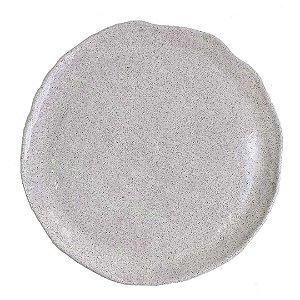 Prato em cerâmica vitrificada branco