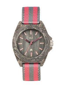 Relógio de Madeira WeWOOD Phoenix 38 Teak Pink