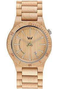 Relógio de Madeira WeWOOD Assunt Beige