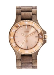 Relógio de Madeira WeWood Date MB Nut Rough Rose
