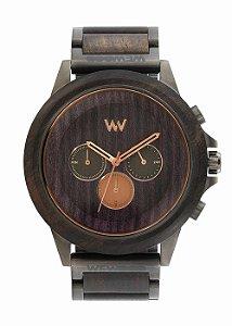 Relógio de Madeira WeWOOD Ethereum Black Gun Rose