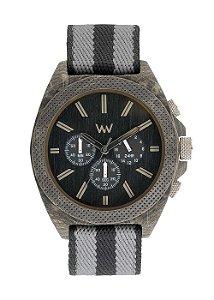 Relógio de Madeira WeWOOD Phoenix Chronos Teak Black