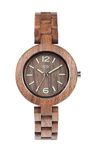 Relógio de Madeira WeWood Iris Nut