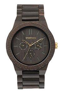 Relógio de Madeira WeWood Kappa Black/Gold