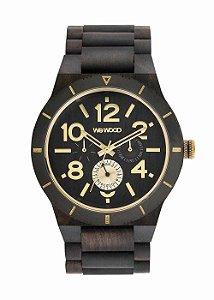 Relógio de Madeira WeWood Kardo MB Black Rough Gold
