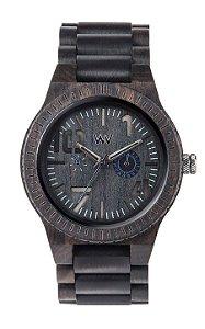 Relógio de Madeira WeWood Oblivio Black Blue