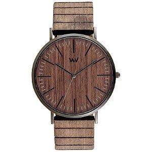 Relógio de Madeira WeWOOD Horizon Nut Gun Oak
