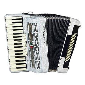 Acordeon Cadenza 80 baixos CD80/37 Branco Pérola