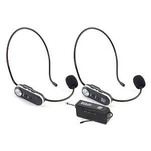Microfone Staner Headset digital duplo SFW-20