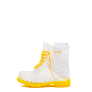 Galocha Bota Transparente Kesttou Amarelo KT021