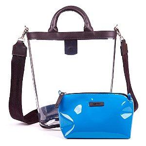 Bolsa Transparente Kesttou Azul BK036