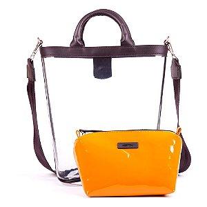 Bolsa Transparente Kesttou Amarelo BK036