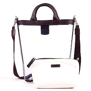 Bolsa Transparente Kesttou Branco BK036