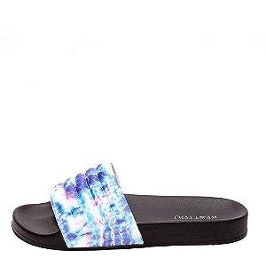 Slide Feminino Kesttou KTSL011 Tie Dye Azul