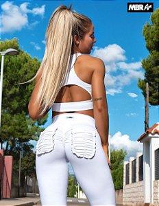 Conjunto frufru branco legging