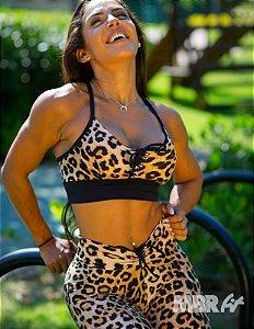 Conjunto Onça marrom top + legging